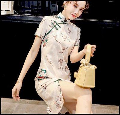 【Fashion歐洲站】旗袍女復古年輕款少女國潮國風中日常可穿生活裝改良版連衣裙
