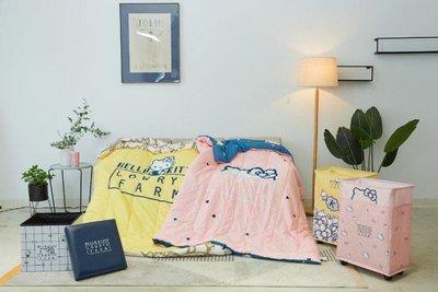 7-11 超商 HELLO KITTY三美聯名 雙面薄被 雙層薄被共2款 凱蒂貓 🏨集點 粉黃粉紅現貨