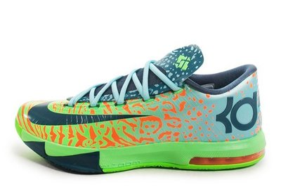 Nike KD VI Liger Electric Green/Night Factor-Orange 獅虎/綠藍