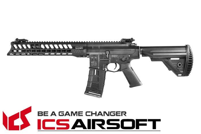 【翔準軍品AOG】ICS CXP-YAK CQB(黑)S1托 EBB Keymod 全金屬 電動 生存遊戲 ICS-41