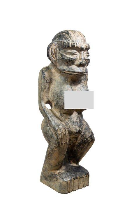 《博古珍藏》隕石女祖神擺件.31公斤.紅山文化文物.皮殼厚實.收藏多年.感恩特賣會.超值回饋