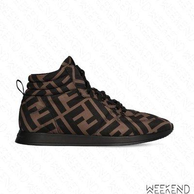 【WEEKEND】 FENDI FENDI FF Prints On 高筒 休閒鞋 棕色 20春夏
