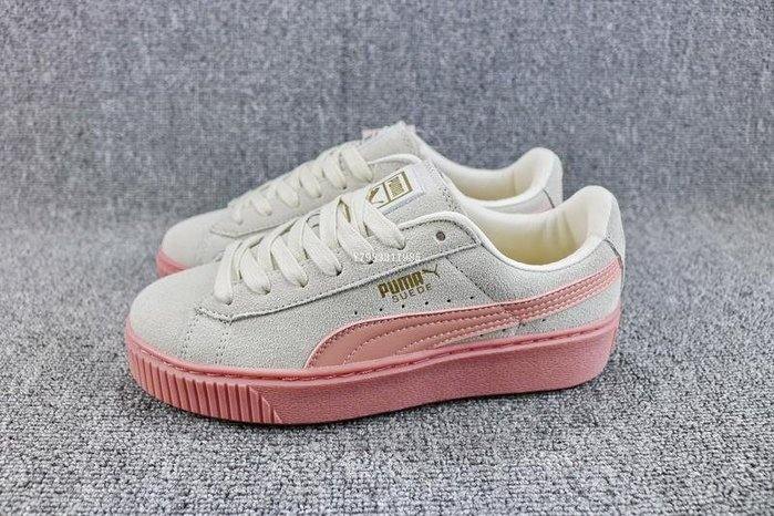 Puma Suede Platform 灰白粉 增高 松糕鞋 休閒滑板鞋 女鞋 363559-12