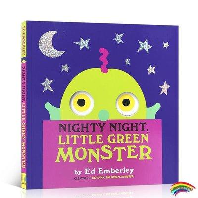 英文原版繪本 Nighty Night, Little Green Monster 晚安小綠怪 面具洞洞書 Go away big green monster
