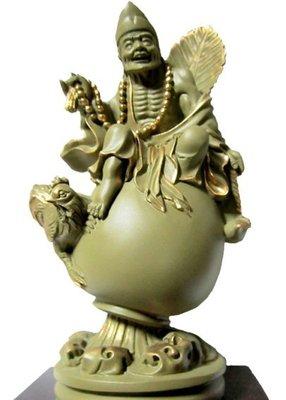 免運 養慧軒  金剛砂陶土精雕佛像 4寸 石岩濟公(石色金邊),台灣作品,採人工雕塑繪製而成,出貨前已加持淨化