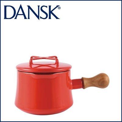 【小胖日本代購】紅色預購 日本進口 DANSK 木質單柄琺瑯鍋 牛奶鍋 湯鍋 1QT(13cm/13公分) ◎