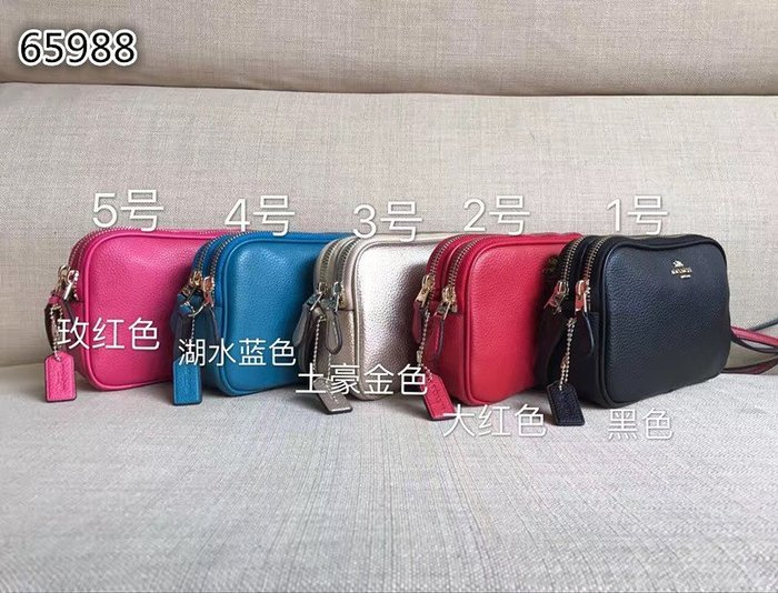 NaNa代購 COACH 65547 65988 手拿包 單肩包 斜跨包 雙拉鏈  可放iphone6s 附購證