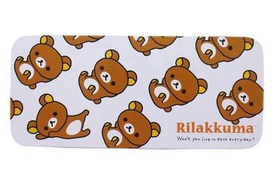 【卡漫迷】 拉拉熊 單層 鉛筆盒 白配咖 ㊣版 Rilakkuma 懶懶熊 馬口鐵 製 鐵筆盒 日版 鐵盒
