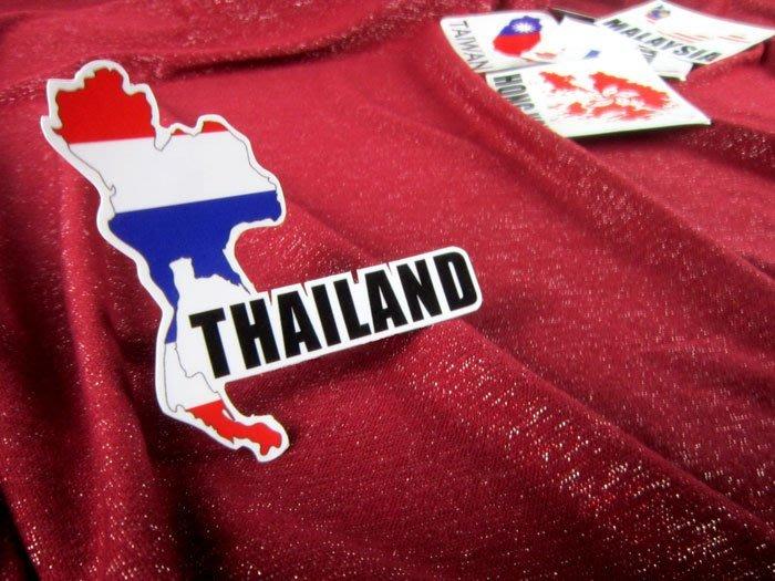 【衝浪小胖】泰國旗地圖抗UV、防水登機箱貼紙/Thailand/世界多國款可收集和訂製