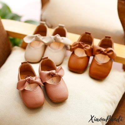 春季兒童正韓小皮鞋新款軟底公主鞋蝴蝶結女童休閒鞋子女孩豆豆鞋Y-優思思