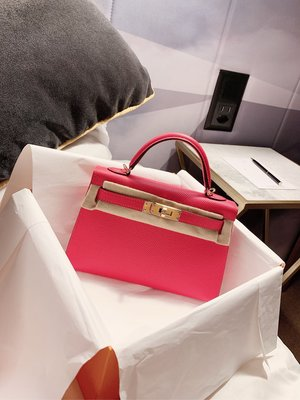 Full set Brand new Rose Extreme色 桃紅色 Hermes Mini Kelly