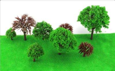 奇奇店-球樹 球樹杆成品樹沙盤 建築模型材料 場景製作材料 模型樹塑膠