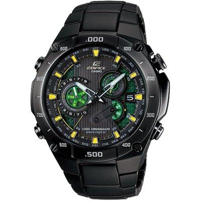 【金台鐘錶】CASIO 卡西歐 EDIFICE 太陽能 (六局電波) 三眼錶賽車錶 EQW-M1100DC-1A2