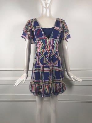 [我是寶琪] Diane 印花雪紡洋裝