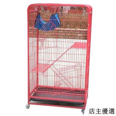 寵物籠大號雙層三層四層方管烤漆貓籠子送吊床貓籠平臺配件