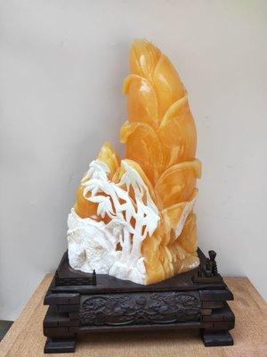 金凍石節節高擺件 活動作品 正宗印尼金田黃 雅安綠 和田玉