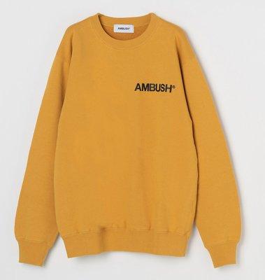 全新現貨 AMBUSH CREW NECK SWEAT SHIRT 經典Logo 衛衣 大學Tee 吳亦凡