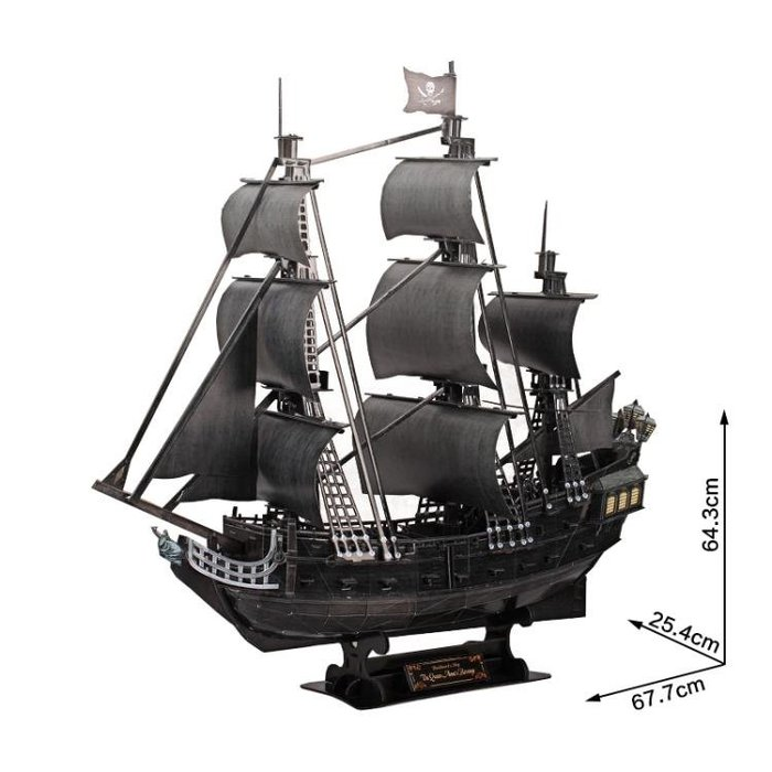 3d立體拼圖海盜船模型拼裝diy畢業生日禮物益智玩具成人WY