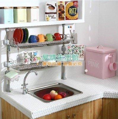 廚房置物架不銹鋼碗架瀝水架廚房用品調味品架雙層收納架