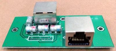 [雷區專用] 乙太網路防雷擊與突波衝擊保護器  內建於機殼型 PCBA-SELP-1P10KA-X