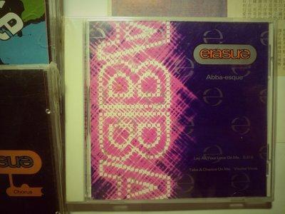 erasure 滅跡 樂團 Abba-esque ABBA旋風 翻唱4首歌 Mute原廠CD歐版 1992
