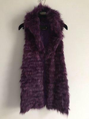 (Reserved) Rosebullet 日本真皮草紫色狐狸毛背心