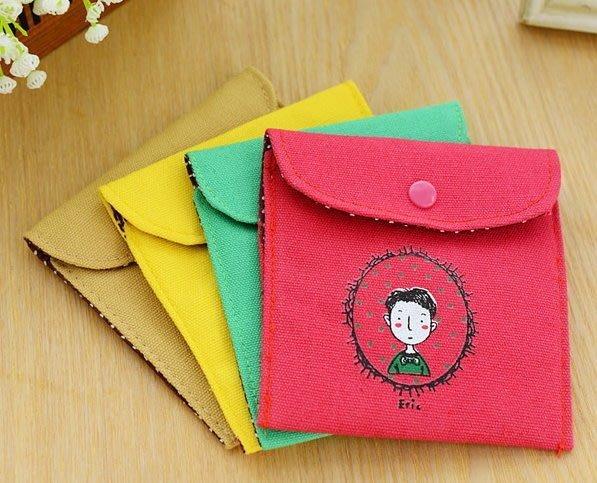 女生的秘密棉麻衛生綿包/私人小秘密 護墊 收納袋化妝包  kimiss【FH005】