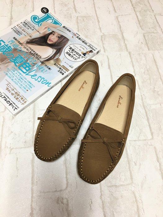 現貨出清~台灣手工製 真牛皮休閒鞋–深米色 21304-4   米蘭風情