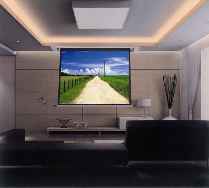 【昌明視聽】晶美 LEXIN 150吋 EA系列 8 X 10 電動布幕 1:1比例 白色鋁合金外殼 內建12V驅動器