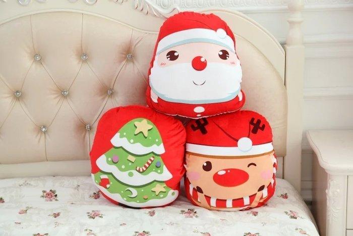 ☆雯雯館☆聖誕老公公麋鹿暖手枕/抱枕靠墊 坐墊 午安枕/生日禮物/聖誕節交換禮物/耶誕節