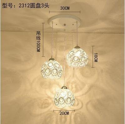 2312白色圓盤款北歐餐廳吊燈創意個性餐廳燈飯廳燈現代鐵藝XSJ❤818283