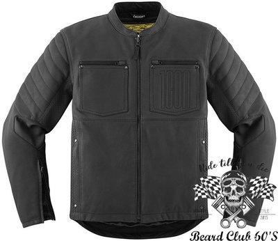 ♛大鬍子俱樂部♛ ICON® 1000 Axys Leather Jacket 美國 復古 哈雷 護具 夾克 防摔衣