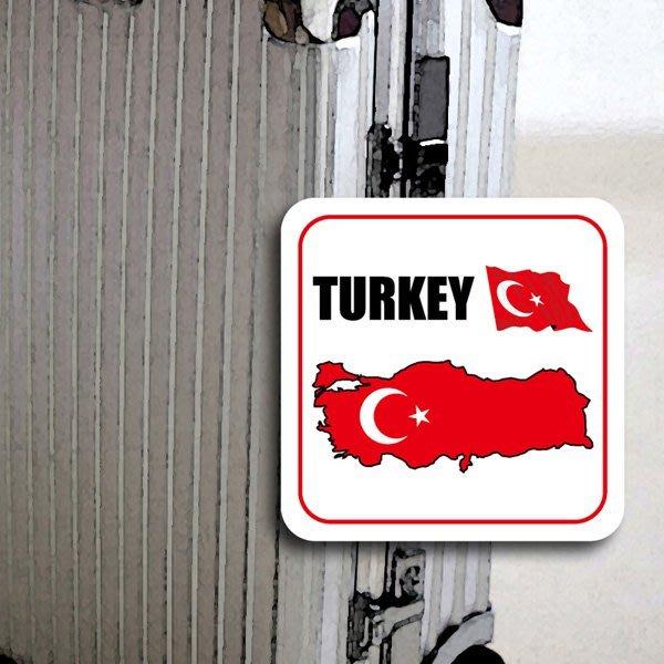 【國旗貼紙專賣店】土耳其領土防水、抗UV行李箱貼紙/各尺寸、多國都有客製/Turkey