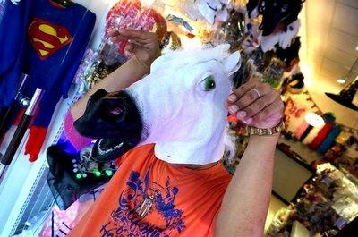 發光派對屋@馬頭面具(白色)騎馬舞...