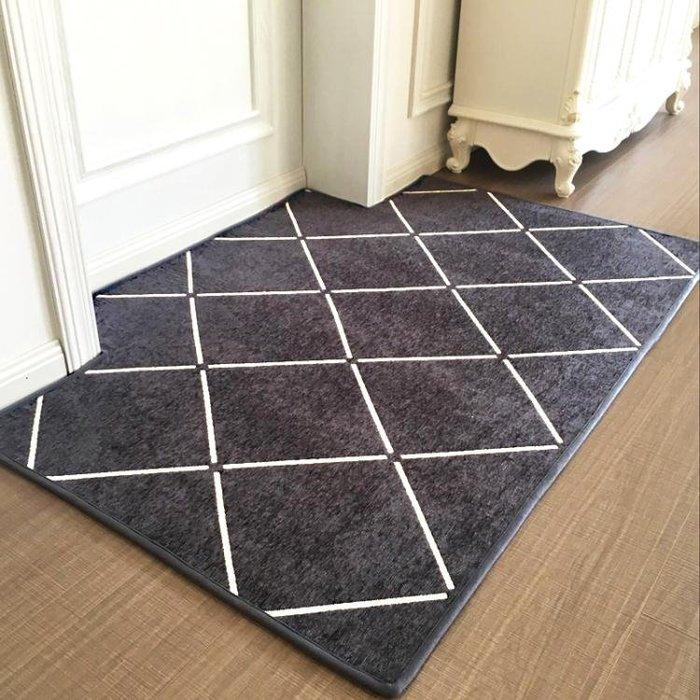 新款進門門墊入戶門腳墊門廳客廳臥室地毯北歐簡約地墊防滑WY