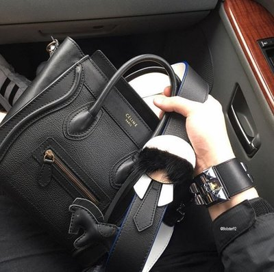 Fendi Karlito leather shoulder strap 老佛爺背帶