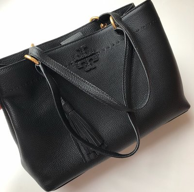 1821500Tory burch MCGRAW TRIPLE-COMPARTMENT SATCHEL手提袋側背包黑