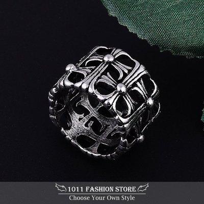 龐克 搖滾 男性 女性 西德鋼 / 鈦鋼 十字架 時尚 戒指 鋼戒 情人對戒  jz999 媲美 克羅心