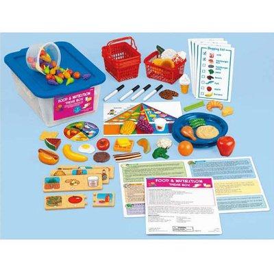 【晴晴百寶盒】美國進口 主題教學1-食物和營養 LAKESHORE 尋寶遊戲感統教具益智遊戲環保無毒玩具遊戲感官W312