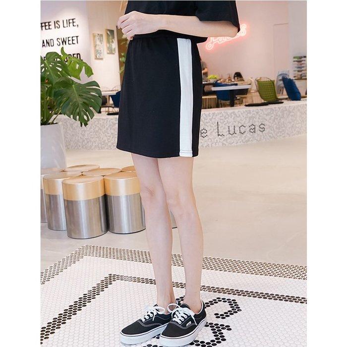 【Hao Da】全館399免運↘「M~XL。現貨」3色  鬆緊腰 運動休閒短裙 (P1241)