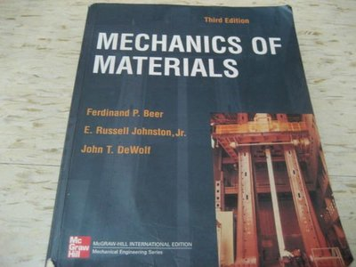 MECHANICS OF MATERIALS(第三版) 作者:Ferdinand P. Bear 等/ ISBN:0071210601
