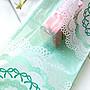 AM好時光【F60】Tiffany 湖水綠 蕾絲 opp 自...