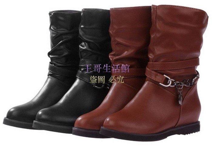 【凱迪豬廠家直銷】新款中筒機車靴 騎士靴 馬丁靴 雪靴 皮靴(35~40碼)