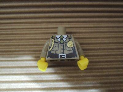 【玩具星球】LEGO 樂高 森林警察 特警 身體加腳 X1 SWAT Dark tan 深沙漠 現貨