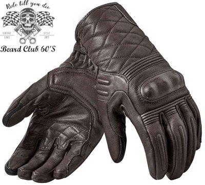 ♛大鬍子俱樂部♛ REVIT ® Monster 2 荷蘭 原裝 復古 騎士 哈雷 重機 透氣 山羊皮 短手套 深棕色