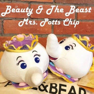 日本正版 尾單 美女與野獸 茶壺太太玩偶禮物 造型玩具 可愛毛絨擺件 新北市