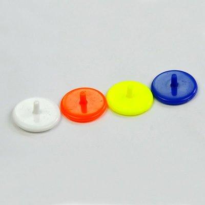 【戶外精品】10個1組 高爾夫球位標 馬克mark 24MM十字球標 顏色隨機發貨 配件