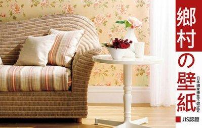 【LondonEYE】日本進口擬真建材壁紙 • 美式鄉村鵝黃色茶香玫瑰 • 初戀滋味 美式居家(F)