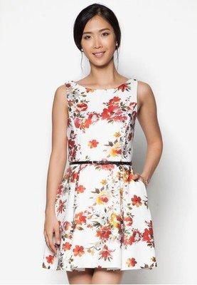 ☆°╮VS流行館╭°☆新加坡時尚品牌Zalora保證正品全新附吊牌◎花卉露背附腰帶性感洋裝禮服(現貨在台)