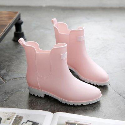 商品折扣中 時尚中筒女士雨靴廚房低筒短筒雨鞋學生防滑水鞋韓國成人可愛膠鞋